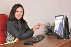 Женщина в офисе Стоковые Фото