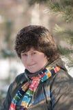 Женщина в одеждах зимы Стоковые Фото