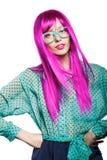 Женщина в парике Стоковые Фотографии RF