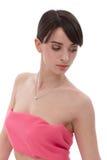 Женщина в пинке - рак молочной железы Awereness Стоковое фото RF