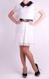 Женщина в платье способа Стоковое Изображение RF