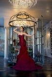 Женщина в платье стоковая фотография rf