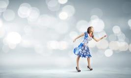 Женщина в платье Стоковое фото RF