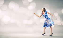 Женщина в платье Стоковые Изображения RF