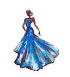 Женщина в платье Стоковое Фото