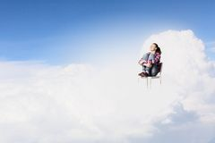 Женщина в рае Стоковые Фотографии RF
