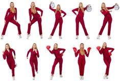 Женщина в различных концепциях спорт Стоковые Изображения