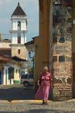 Женщина в Санта-Фе de Antioquia, Колумбии Стоковые Фотографии RF