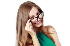 Женщина в стеклах стоковое фото rf