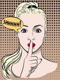 Женщина в стиле комиксов искусства шипучки Стоковая Фотография