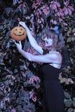 Женщина в стиле хеллоуина стоковое фото rf