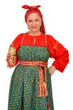 Женщина в традиционной ткани Стоковое Изображение