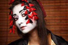 Женщина в традиционном восточном костюме Стоковое Фото