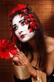 Женщина в традиционном восточном костюме Стоковое фото RF