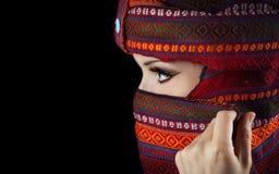 Женщина в тюрбане стоковое изображение rf