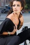 Женщина в улице Стоковые Фотографии RF