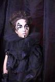 Женщина в черноте Стоковые Изображения RF
