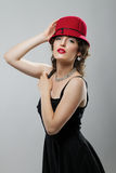 Женщина в шлеме Стоковые Фото