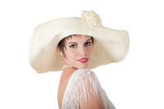 Женщина в шлеме Стоковое фото RF