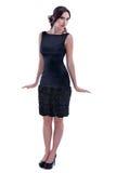Женщина в элегантном платье стоковая фотография rf
