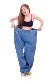 Женщина в dieting принципиальной схеме Стоковое Изображение RF