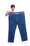 Женщина в dieting принципиальной схеме Стоковое фото RF