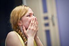 Женщина в schock Стоковые Фото