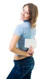 женщина габарита счастливая Стоковое Изображение