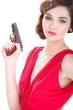 Женщина гангстера Стоковые Фото
