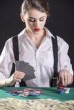 Женщина гангстера Стоковое Фото