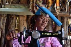 Женщина Гереро, Намибия Стоковые Фото