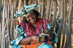 Женщина Гереро, Намибия стоковые изображения rf