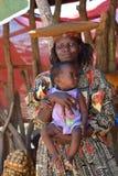 Женщина Гереро, Намибия Стоковое Фото