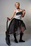 женщина гитары Стоковое Изображение RF