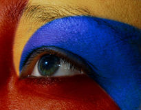 женщина глаза Стоковые Фото