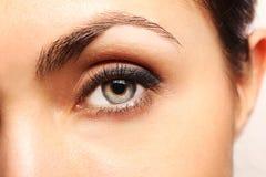 женщина глаза s Стоковое Фото