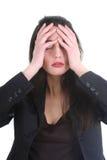 женщина головной боли дела Стоковое Изображение RF