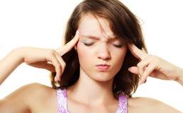 женщина головной боли терпя Стоковая Фотография RF