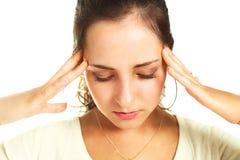 женщина головной боли терпя Стоковое Изображение RF