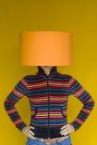 женщина головной лампы стоковое изображение