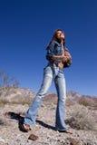 женщина голубых джинсов Стоковое Изображение RF