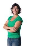 женщина голубых джинсов Стоковые Фотографии RF