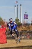 женщина гонщика cyclocross профессиональная Стоковое Фото