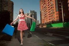 женщина города красотки Стоковое фото RF