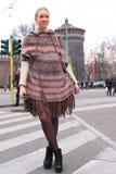 женщина городка милана Стоковые Изображения RF