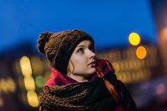 Женщина города стоковая фотография