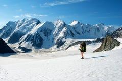 женщина гор Стоковая Фотография