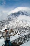 женщина гор Стоковое Фото