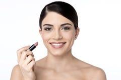 женщина губной помады иллюстрации красотки цветастая стоковые изображения rf
