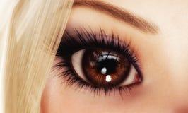 женщина глаза Стоковые Фотографии RF